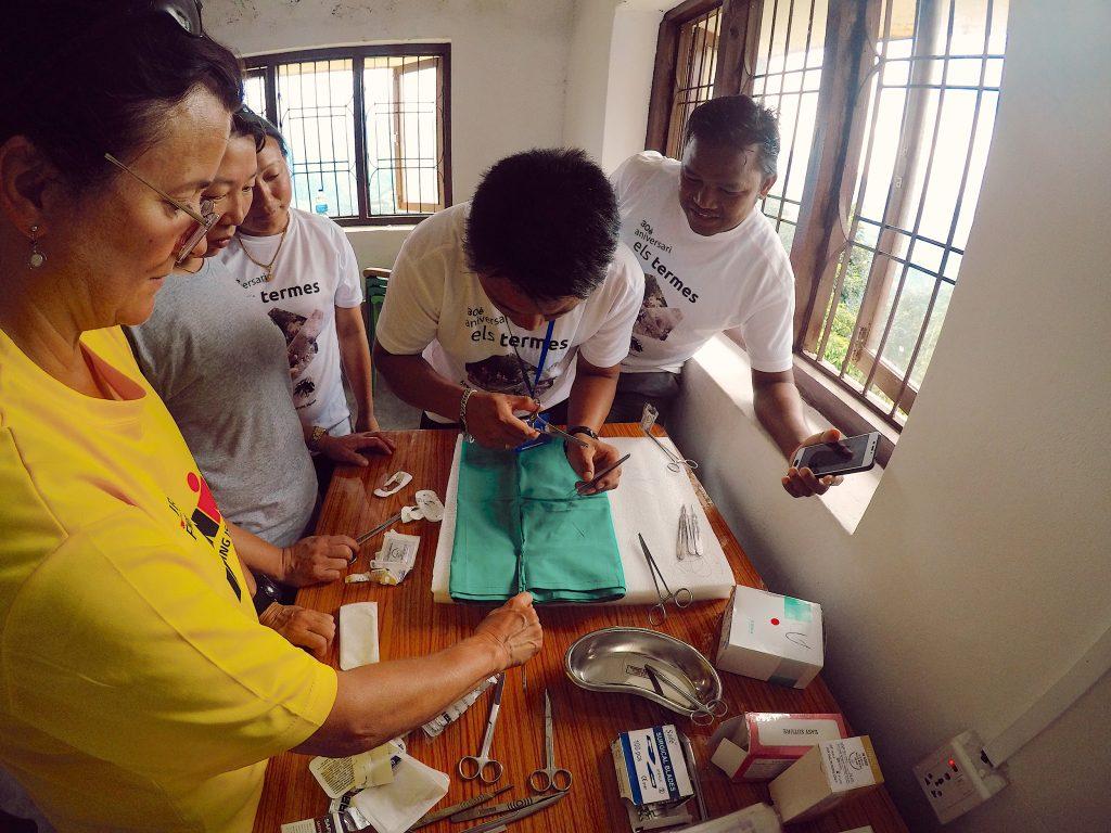 Formación en el Hospital del Makalu