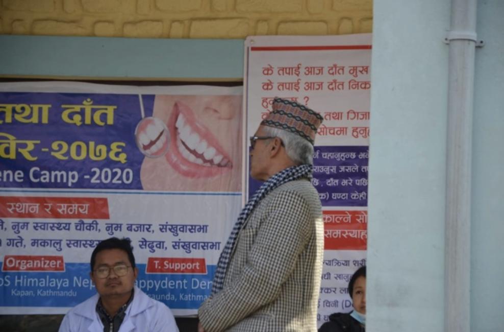 Campamento dental en el Valle del Makalu