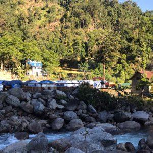 Lugar donde viven los afectados por el corrimiento de tierras