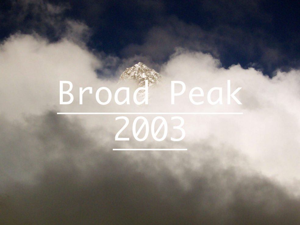 Broad Peak Iñaki Ochoa de Olza